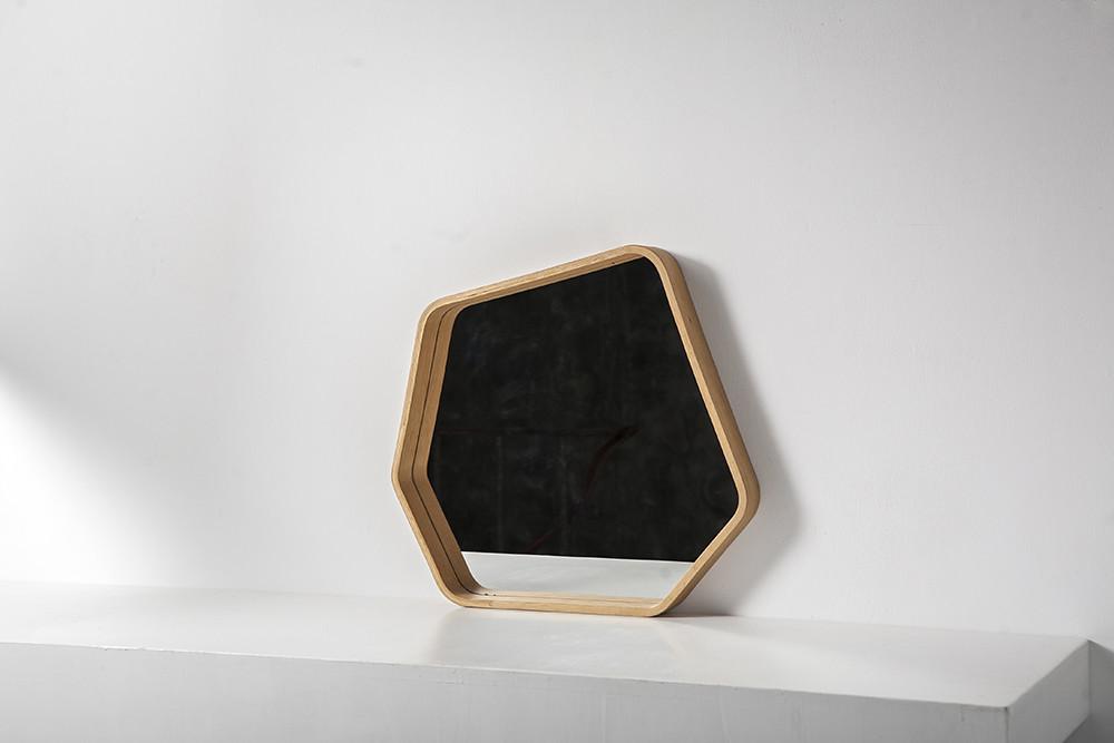 META Polygon Holz Spiegel | Eiche
